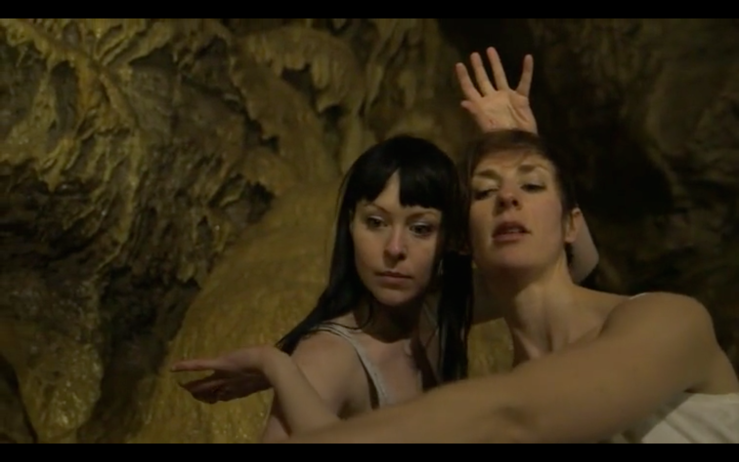 Ainsley Hillyard and Kate Stashko in Cavern, a dance intallation piece choreographed by Jen Mesch, sound by Scott Smallwood.