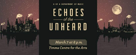 Echoes of the Unheard, promo image designed by Natasia Ouellette.