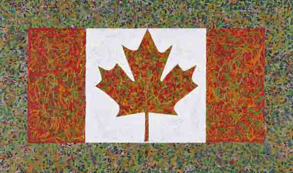 Flagspatter, Charles Pachter. Image courtesy University of Alberta Museums.