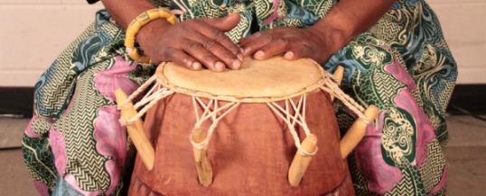 Gideon Alorworyie's drumming hands.
