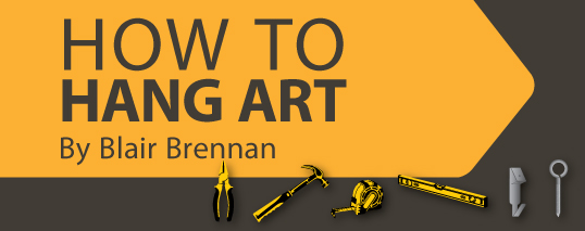 Feature image for an article on how to hang art.