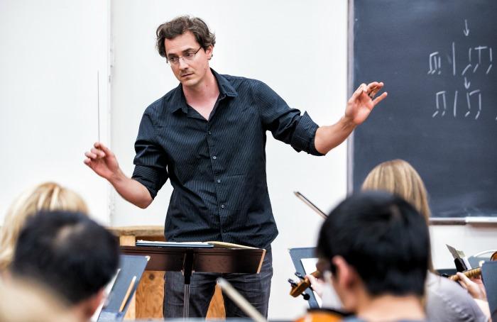 Petar Dundjerski, University of Alberta Symphony Conductor. Photo by Curtis Comeau.