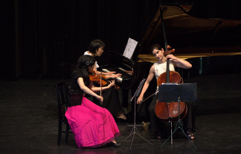 Trio Voce: Marina Hoover, Jasmine Lin and Patricia Tao. Photo supplied by the artists.