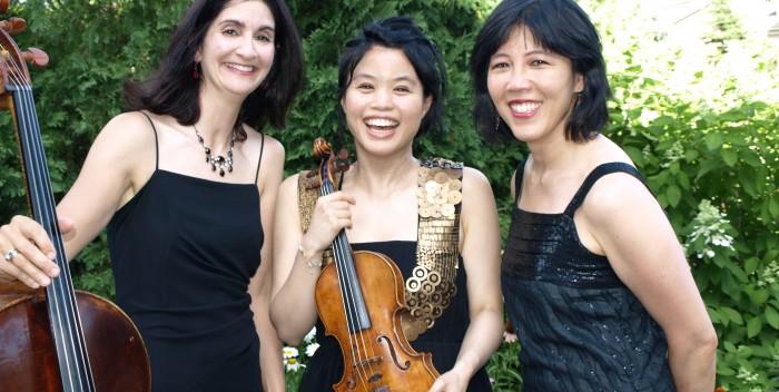 Trio Voce: Marina Hoover, Jasmine Lin and Patricia Tao.