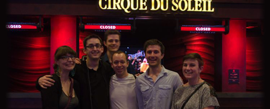 The 2013 graduating BFA Technical Theatre Production class at Cirque Du Soleil