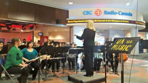 The Symphonic Wind Ensemble Performed At The Cbc Stage In Downtown Edmonton Jan. 21, 2016 To Kick Off The 50th Anniversary Celebrations.