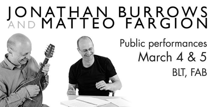 Jonathan Burrows And Matteo Fargion