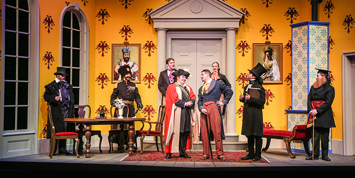 Photo Of Characters On Set For The Studio Theatre Performance Of Government Inspector