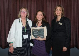Megan Watson Received A 2014 Faculty Of Arts Graduate Teaching Award, Presented By Kathleen Weiss And Dean Of Arts, Lesley Cormack On May 6, 2014.