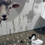 Prairie Scene (oh Shucks) Megan Gnanasihamany Wood, Plaster, Paper, Wheat And Mixed Media